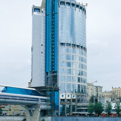 International Business Center, Moscow granites New Crystal, Grigio Sardo,Bianco sardo