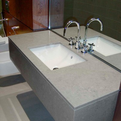 Private house, London - Limestone vanity