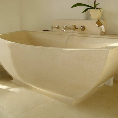 Private house, London - Solid Limestone bath